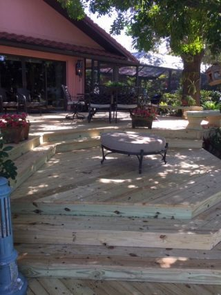 Custom wood deck, Bird Key Sarasota FL Crowe-Building.com